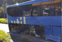 Acidente com ônibus da Viação Util chama atenção na BR-040