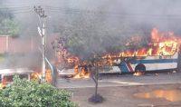 Ônibus da Viação Nossa Senhora da Penha é incendiado na Zona Norte do Rio