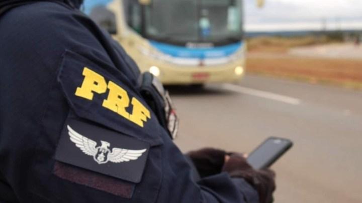 DF: PRF apreende ônibus pirata que fazia transporte ilegal de passageiros