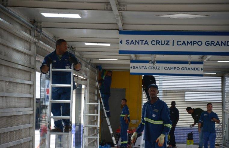 Rio: Obra em estação do BRT que vai retomar ligação expressa entre Campo Grande e Santa Cruz é vistoriada