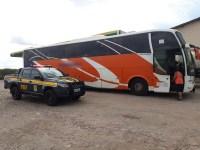 PRF apreende ônibus clonado no interior do Piauí