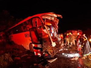 RO: Divulgada a lista de mortos no acidente entre caminhão e ônibus da Bruna Turismo na BR-364