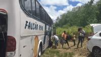 BA: Ônibus da Falcão Real quebra na BR-324 e passageiros mostram a dura realidade. Vídeo