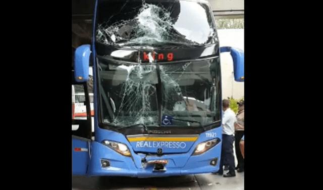SP: Acidente entre dois ônibus na Rodoviária do Tietê atrasa viagens