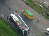 SP: Ônibus da Eucatur tomba na Régis Bittencourt deixando 15 feridos