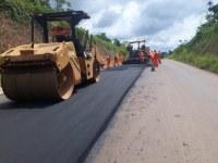 DNIT segue com as obras de pavimentação na BR-230/PA