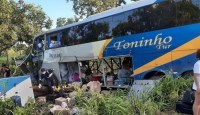 GO: Ônibus da Trans Brasil que sofreu acidente na BR-153 transportava 56 pessoas e passageiros viajavam no bagageiro