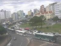 Rodoviários de Porto Alegre realizam protesto contra redução dos cobradores