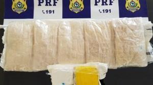 Passageira de ônibus é presa pela PRF com cocaína peruana em Rondônia