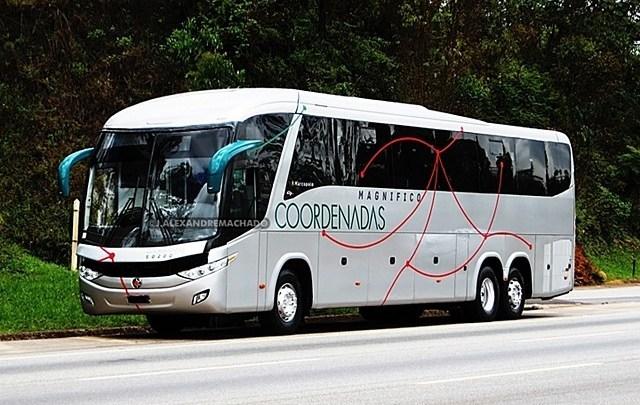 MG: Aos poucos vão surgindo mais ônibus com a identidade visual da Cia Coordenadas de Transportes