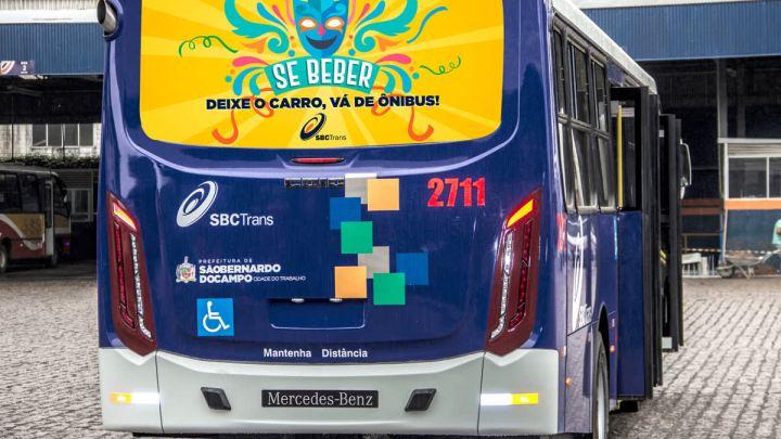 """SP: Campanha """"Se beber, deixe o carro, vá de ônibus"""" é lançada pela SBCTrans"""