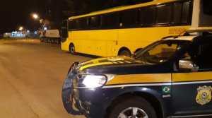 MG: PRF apreende ônibus com placa clonada em Muriaé