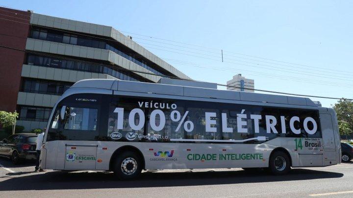 Prefeitura de Cascavel deverá implantar ônibus elétricos na cidade em breve