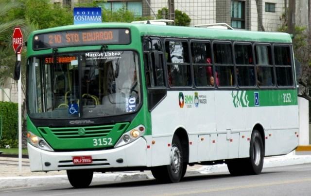 Rodoviários realizam paralisação em Maceió na manhã desta quarta-feira