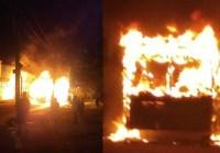Ônibus é incendiado na noite desta segunda na Zona Leste de São Paulo