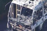 Ônibus pega fogo na manhã desta quarta-feira na Fernão Dias na Região Metropolitana de BH