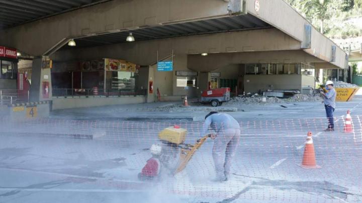 Rodoviária de Santos entra em obras sob cuidados extras pelo coronavírus
