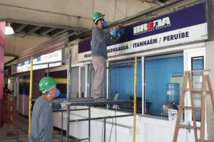 Revitalização da Rodoviária de Santos começa com demolição de boxes