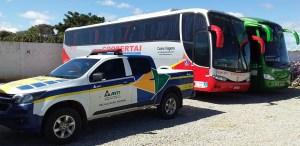 Fiscalização da ANTT apreende cinco ônibus no interior da Bahia