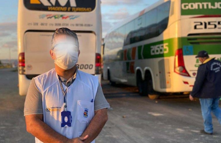BA: Ações da PRF, ANTT e Prefeitura de Vitória da Conquista apreendem ônibus