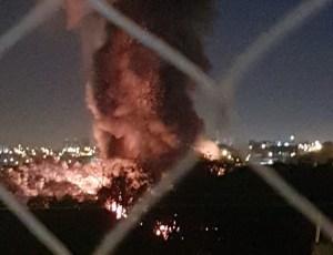 SP: Incêndio atinge garagem da Rápido Campinas em Sorocaba nesta madrugada