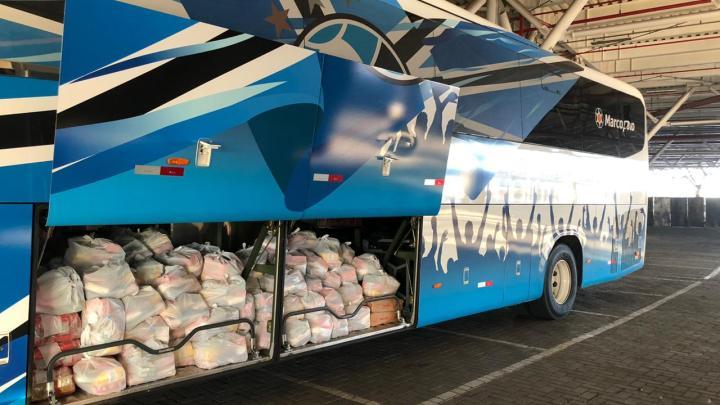 Porto Alegre: Grêmio reúne 8,5 toneladas de alimentos para doar às comunidades vizinhas