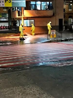Sorocaba: Militares do Exército auxiliam na desinfecção do Terminal Santo Antonio