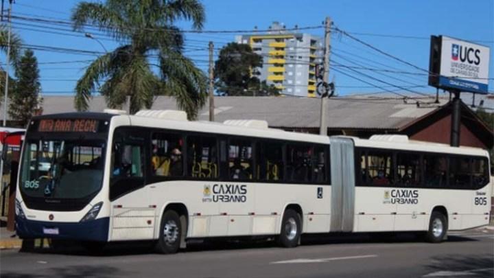 RS: Ônibus de Caxias do Sul seguem circulando lotados nos horários de pico