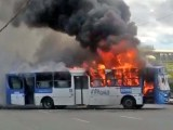 Vídeo: Ônibus da CSN Transportes é incendiado em Salvador