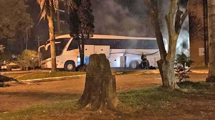 RS: Ônibus da Ouro e Prata registra incêndio em Cruz Alta