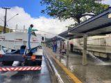 João Pessoa realiza desinfecção de terminais de ônibus para retorno do transporte público