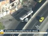Rio: Acidente na Avenida Brasil deixa o trânsito complicado na manhã desta quinta-feira