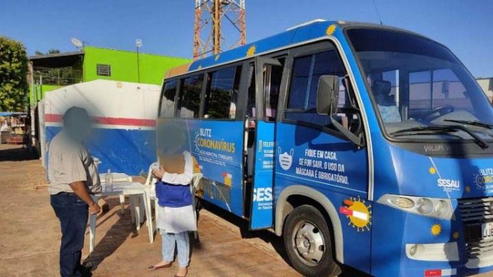 Campo Grande: Ônibus da Blitz do Covid-19 atende a região do Anhanduizinho