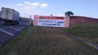 Via Dutra: Acesso ao município de Pindamonhangaba é interditado para obras