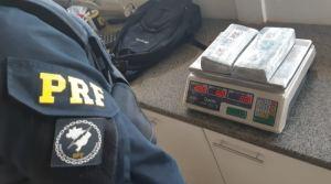 MS: PRF prende passageira de ônibus com 2 Kg de entorpecentes na BR-163
