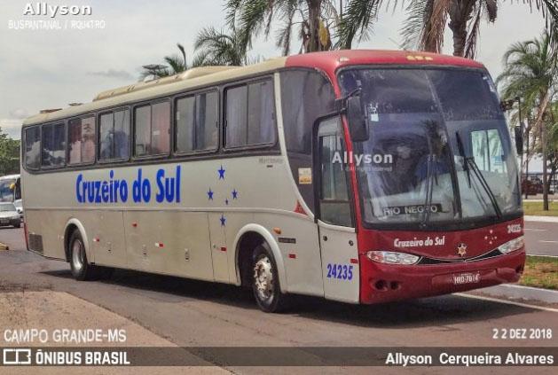 MS: Ônibus da Cruzeiro do Sul é interceptado em Ladário por transporte irregular de passageiros