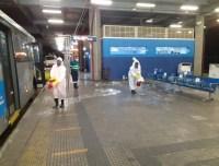São Paulo: Terminais de ônibus passam por lavagem e desinfecção contra o coronavírus