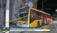 Acidente com ônibus deixa 3 feridos na Zona Leste de São Paulo por embriaguez