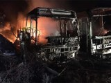 MG: Incêndio atinge ônibus da Frota Nobre em Juiz de Fora
