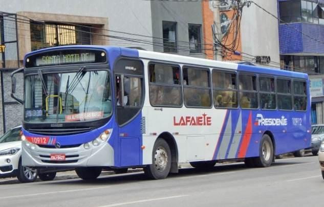 MG: Ônibus da Viação Presidente Lafaiete tem princípio de incêndio