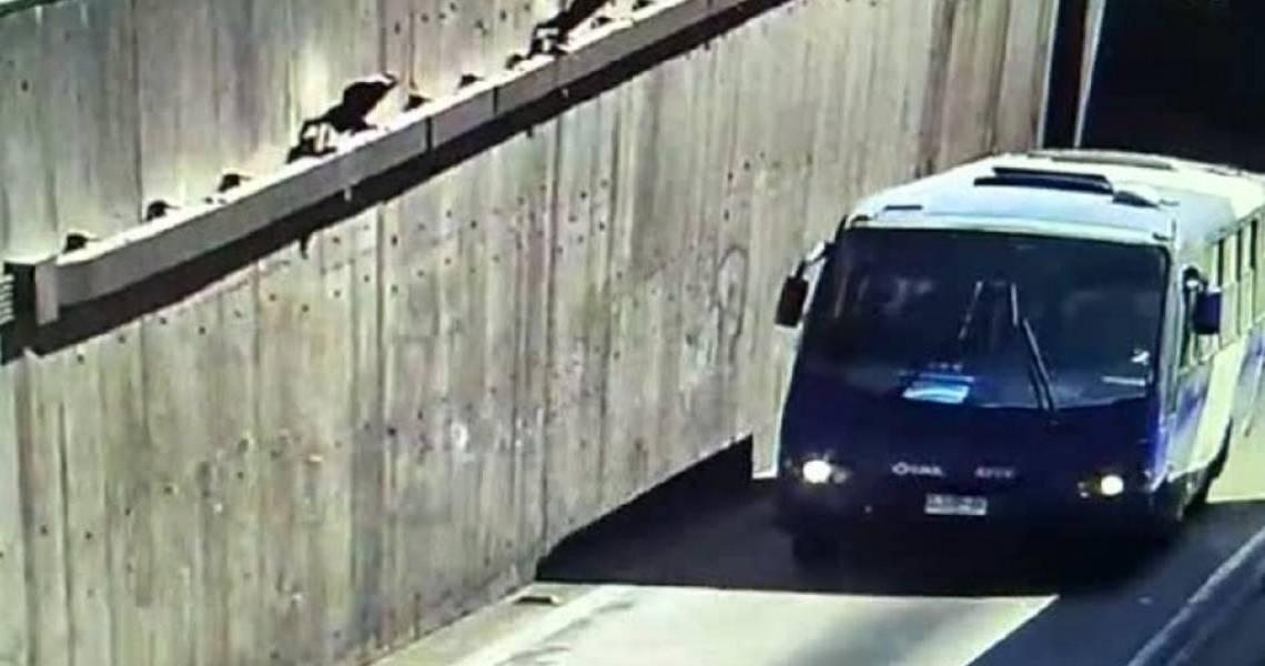 Homem sequestra micro-ônibus no Chile e acaba preso