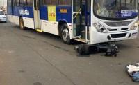 MG: Colisão entre moto e ônibus deixa um morto em Uberaba