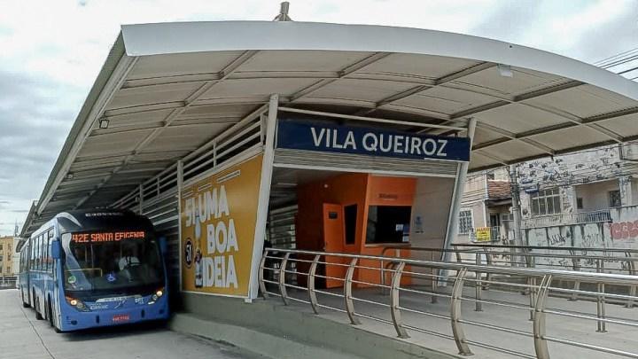 Rio: Estação BRT Vila Queiroz  no  é recuperada e volta a operar após sete meses