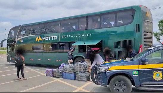 Vídeo: PRF apreende na BR-060 carga ilegal avaliada em 150 mil reais vindo do Paraguai