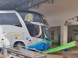 MT: Ônibus da Viação Xavante bate em pilar da rodoviária de Querência