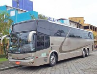 Três ônibus são interceptados na BR-135 pela PRF transportando eleitores para o interior do Maranhão