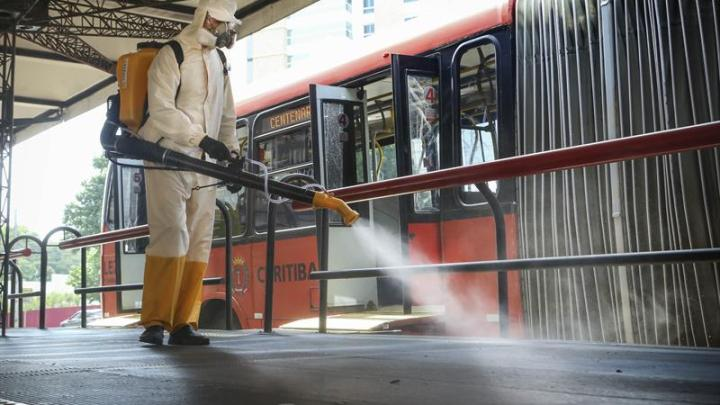 Curitiba: Terminais recebem nova rodada de sanitizações especiais contra covid-19