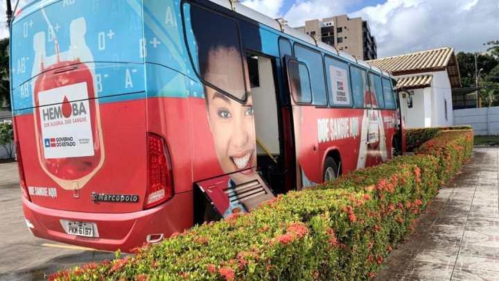 BA: Hemóvel é instalado no centro de Lauro de Freitas para atender demanda de final de ano
