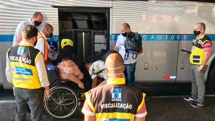 Rio: Detro realiza operação  acessibilidade na Rodoviária Novo Rio e demais terminais