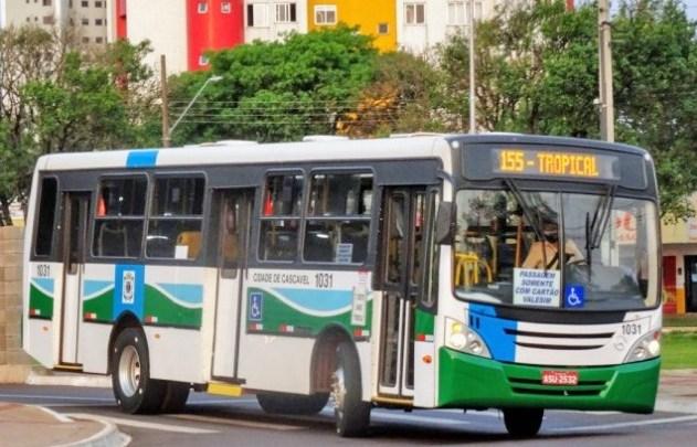 PR: Cascavel segue com 100% da frota de ônibus circulando neste sábado